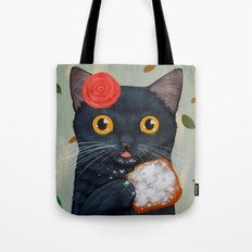 LADY CAT AND BEIGNET Tote Bag