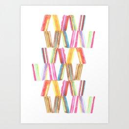 Ice Cream Stripe Art Print