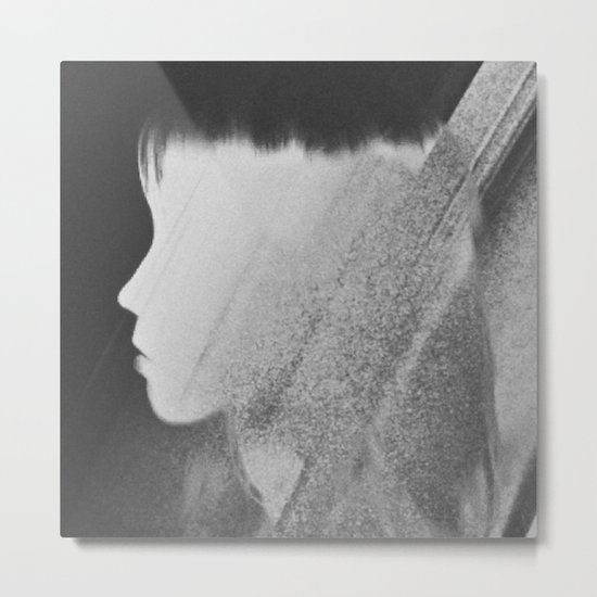 Faceless Charcoal Metal Print
