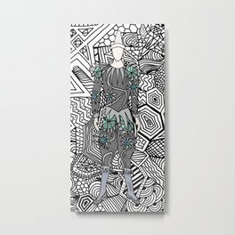 Heroes Fashion 5 Metal Print