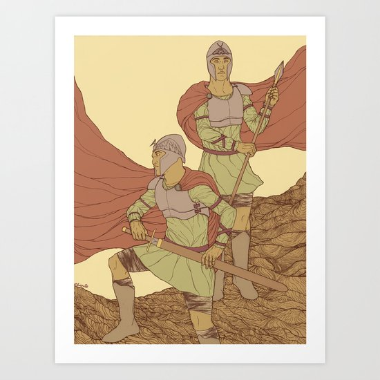 Castor And Pollux (hi-res) Art Print