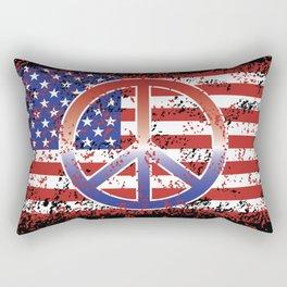 American Peace Rectangular Pillow