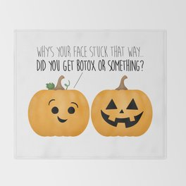 Pumpkin Botox Throw Blanket