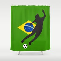 brazil Shower Curtains featuring Brazil - WWC by Alrkeaton