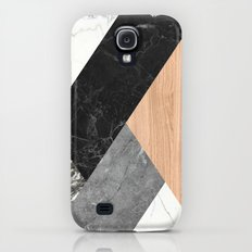 Marble and Wood Abstract Slim Case Galaxy S4