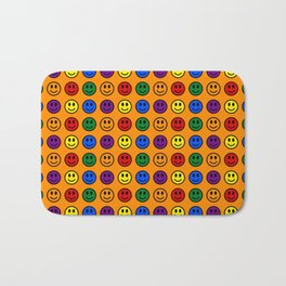 Pride Smiley Faces Bath Mat