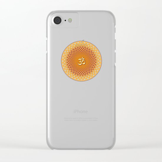 Lotus / Namaste Clear iPhone Case