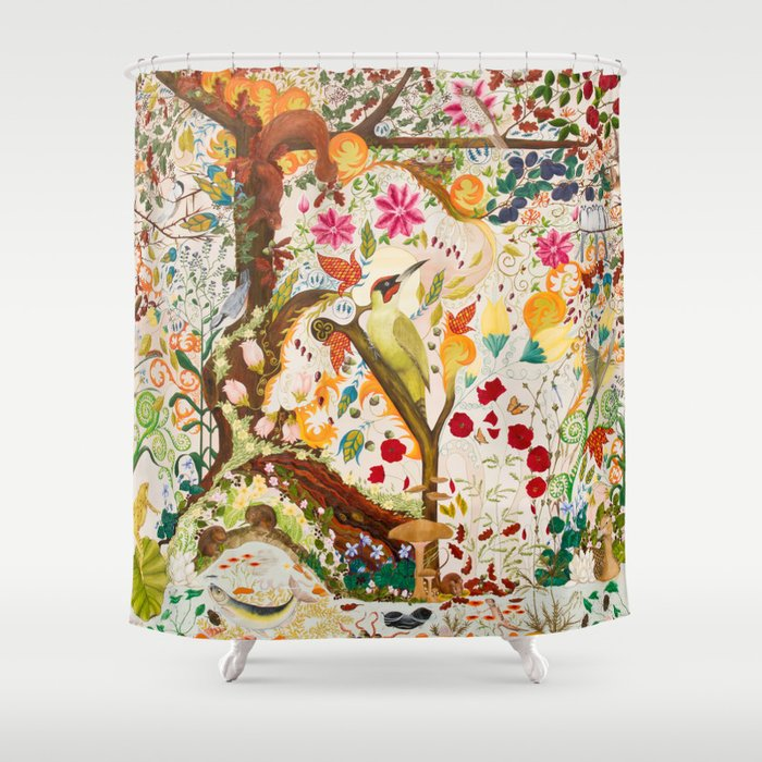 Fantasy Jacobean Forest Shower Curtain By Amethystopalart