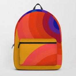 Retro Bullseye - Golden 70s Backpack