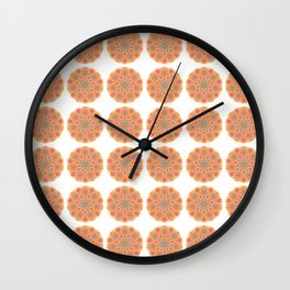 Collage of orange madalas Wall Clock