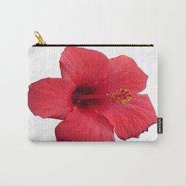 Stunning Red Hibiscus Flower Carry-All Pouch