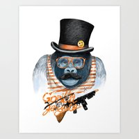 gangster Art Prints featuring Gangster by dogooder