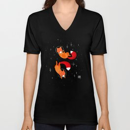 Space Foxes Unisex V-Neck