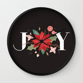 Joy Flourish - Slate Wall Clock