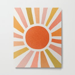 Morning sun mid century art Metal Print