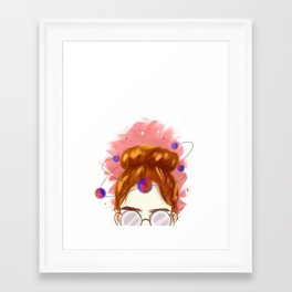 Galaxy Gal Framed Art Print