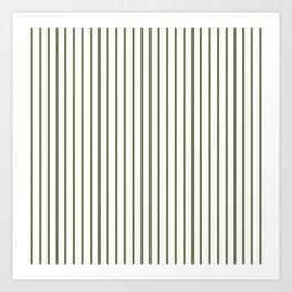Wheelbarrow Grey Pinstripe on White Art Print