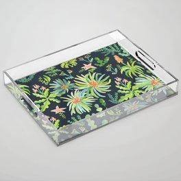 Secret Garden Acrylic Tray