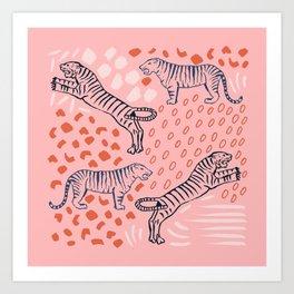 Tiger Print Art Print