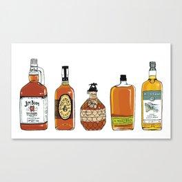 5 Whiskeys Canvas Print
