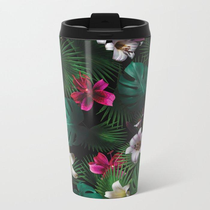 Tropical Night Garden Metal Travel Mug