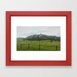 Backyard Mountain Framed Art Print