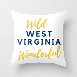 Wild Wonderful West Virginia Gifts Throw Pillow