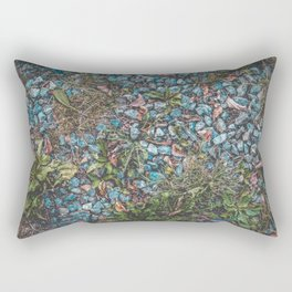 Blue stone pebble gravel ground Rectangular Pillow