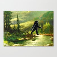 sasquatch Canvas Prints featuring Sasquatch by Andy Detskas