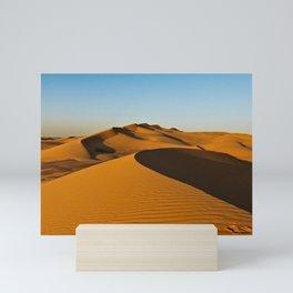 Sand Dunes Sahara Desert Landscape 27 Mini Art Print