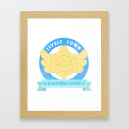 Lively Town Expedition Society Framed Art Print