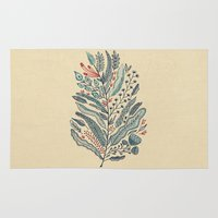 leaf Area & Throw Rugs featuring Turning Over A New Leaf by Monica Gifford