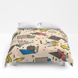 Memphis Inspired Pattern 7 Comforters