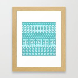 Japanese Style Kawaii Stars Patchwork 2 Framed Art Print