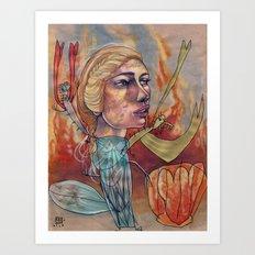 DRAGON MAMA Art Print
