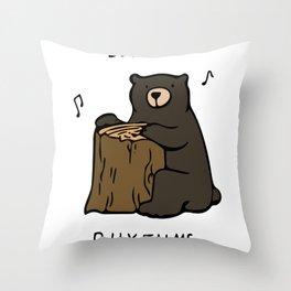 Log a Rhythms Throw Pillow
