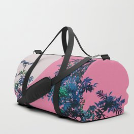 Pink sky and rowan tree Duffle Bag