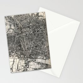 Vintage Map of Berlin Germany (1870) Stationery Cards