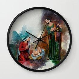 Jesus Is Born Wall Clock