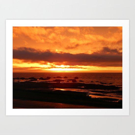Skies of Fury at Sunset Art Print