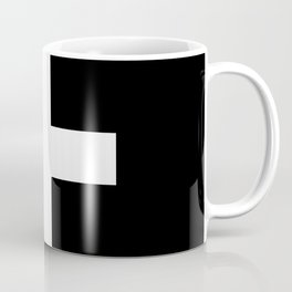 Plus Sign (White & Black) Coffee Mug