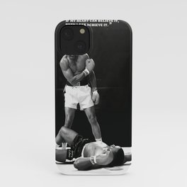 Muham-mad Ali poster, canvas for Wall Art Decor, Gym, kids, Home Living, Bedroom, Office Decorations, man cave with quote  iPhone Case
