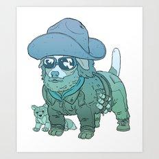 Kurt Russell Terrier - R.J. MacReady Art Print