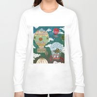 hot air balloons Long Sleeve T-shirts featuring Hot Air Balloons I by minouette