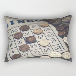 Vintage Bingo Board Game 7 Rectangular Pillow