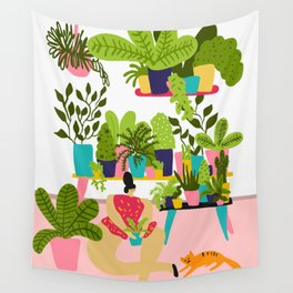 Love Plants Wall Tapestry