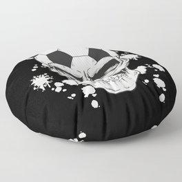 Football Skull - Soccer Skull Floor Pillow