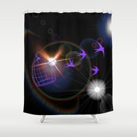 freedom Shower Curtains featuring Freedom by haroulita
