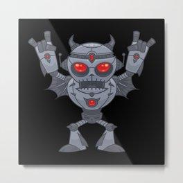 Metalhead - Heavy Metal Robot Devil Metal Print