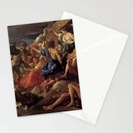 Nicolas Poussin - Helios and Phaeton with Saturn and the Four Seasons Stationery Cards